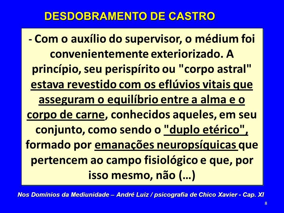 (…) conseguem maior afastamento da organização terrestre, destinando-se à desintegração, tanto quanto ocorre ao instrumento carnal, por ocasião da morte renovadora.