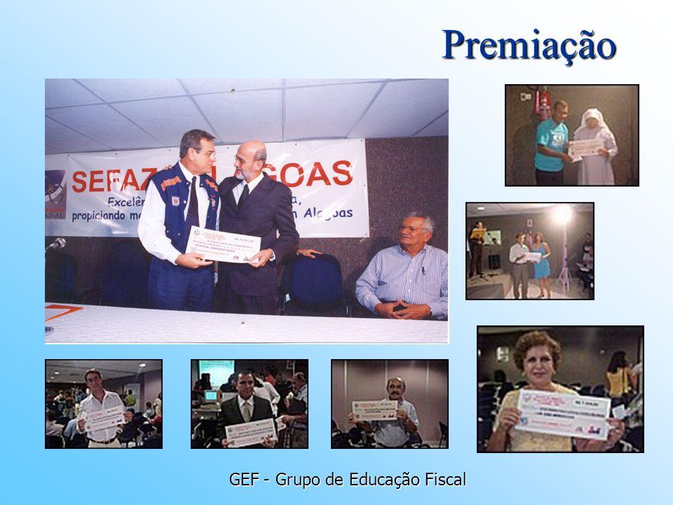 GEF - Grupo de Educação Fiscal Premiação