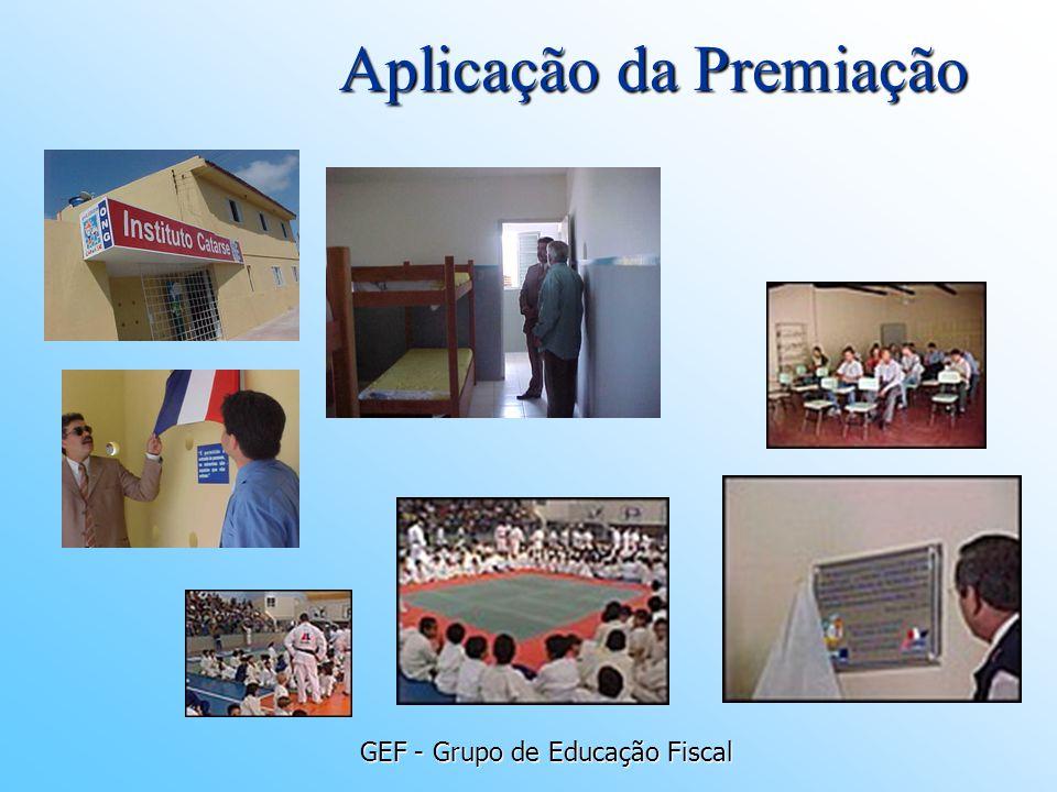 GEF - Grupo de Educação Fiscal Aplicação da Premiação