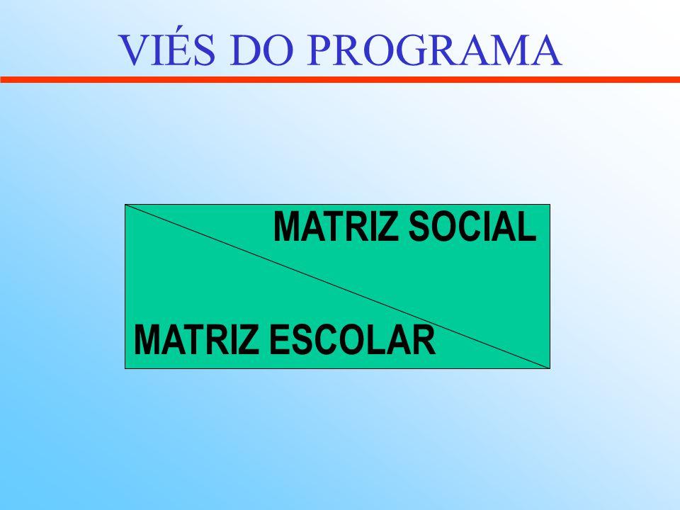 VIÉS DO PROGRAMA MATRIZ ESCOLAR MATRIZ SOCIAL