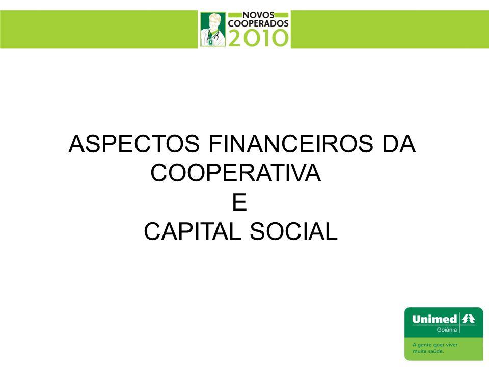 ASPECTOS FINANCEIROS DA COOPERATIVA E CAPITAL SOCIAL