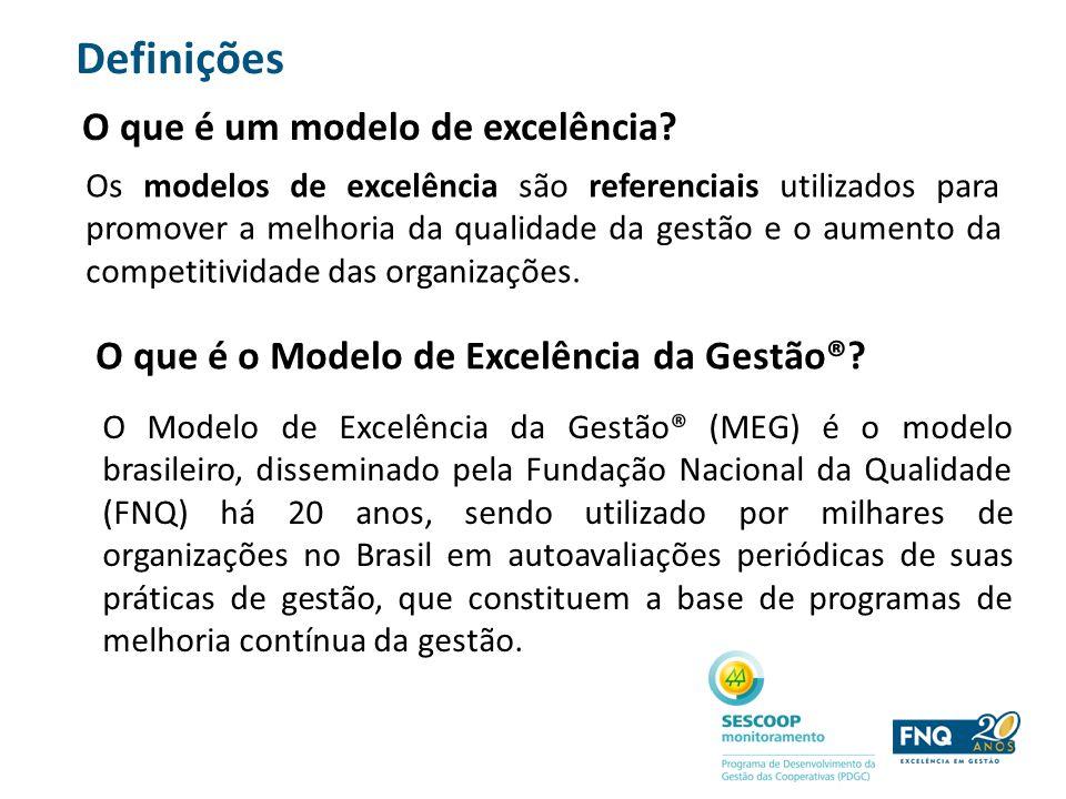 O que é um modelo de excelência? Os modelos de excelência são referenciais utilizados para promover a melhoria da qualidade da gestão e o aumento da c