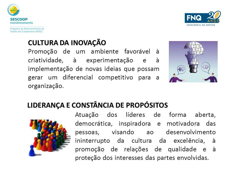 CULTURA DA INOVAÇÃO Promoção de um ambiente favorável à criatividade, à experimentação e à implementação de novas ideias que possam gerar um diferenci