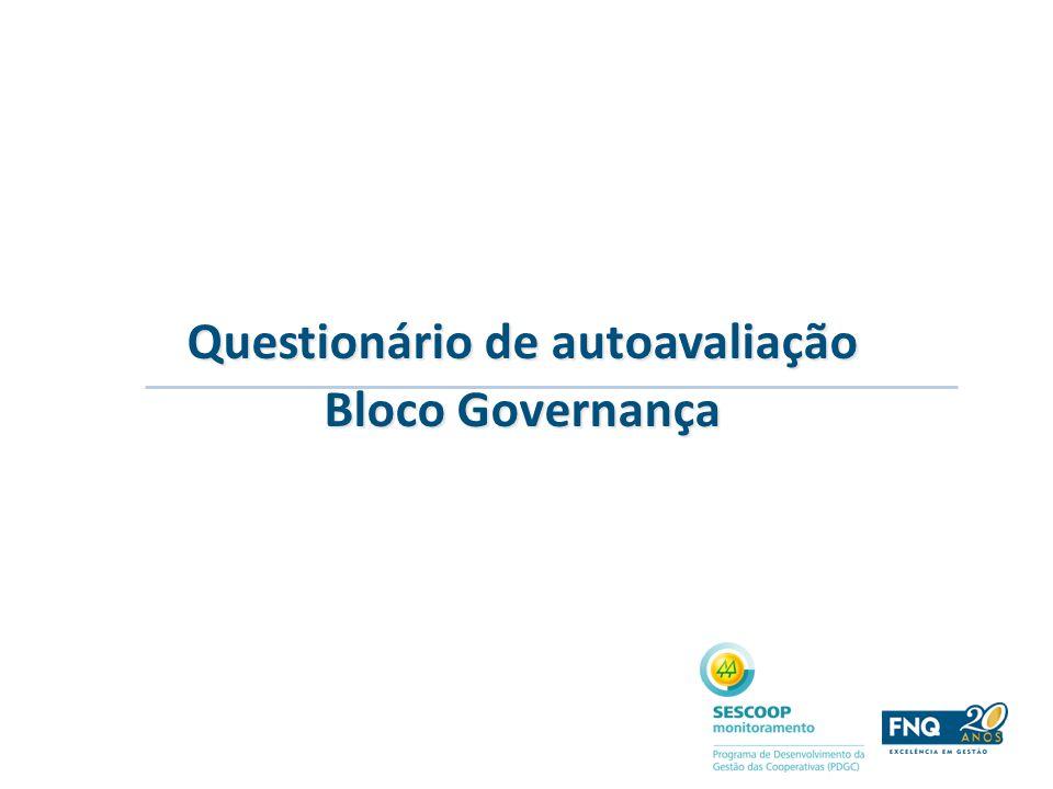 Questionário de autoavaliação Bloco Governança