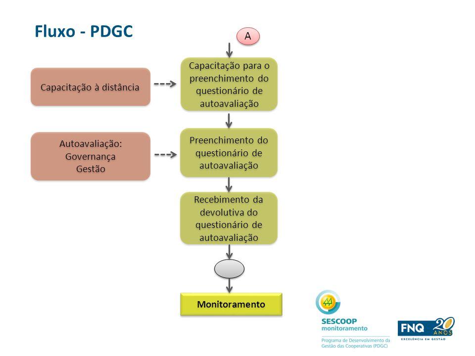 Capacitação para o preenchimento do questionário de autoavaliação Capacitação à distância Fluxo - PDGC Preenchimento do questionário de autoavaliação