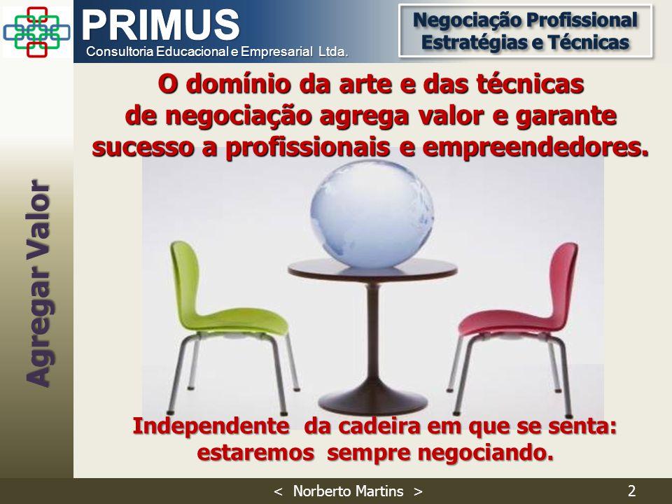 Consultoria Educacional e Empresarial Ltda. O domínio da arte e das técnicas de negociação agrega valor e garante sucesso a profissionais e empreended