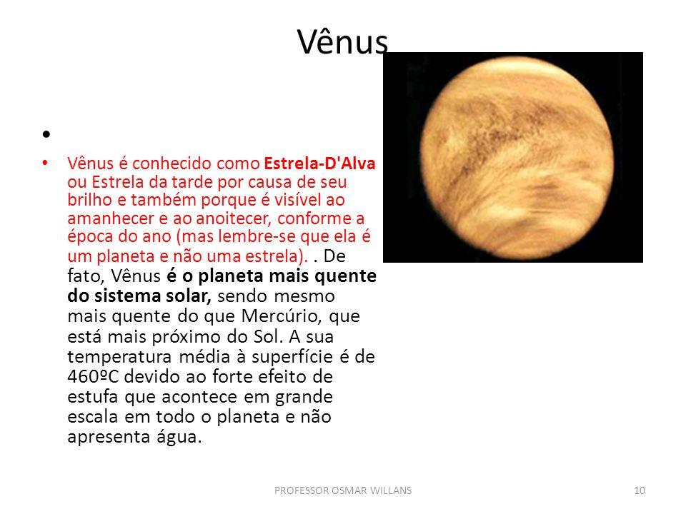 Vênus Vênus é conhecido como Estrela-D'Alva ou Estrela da tarde por causa de seu brilho e também porque é visível ao amanhecer e ao anoitecer, conform