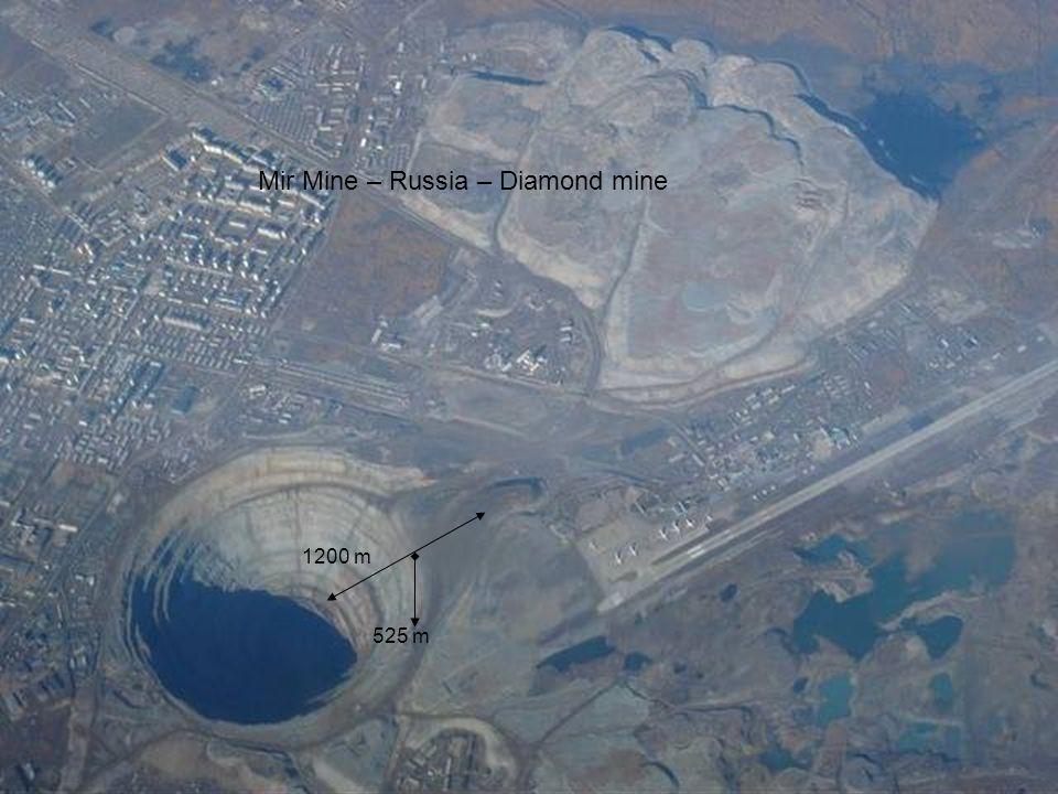 Mir Mine – Russia – Diamond mine 1200 m 525 m