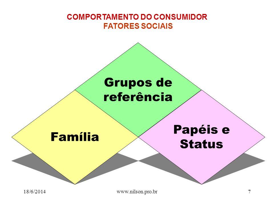 www.nilson.pro.br6 Cultura Subcultura Classe social Comprador COMPORTAMENTO DO CONSUMIDOR FATORES CULTURAIS 18/6/2014