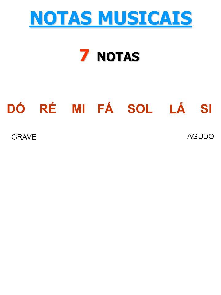 DÓRÉ MI FÁ SOL LÁ SI GRAVE AGUDO NOTAS MUSICAIS 7 NOTAS