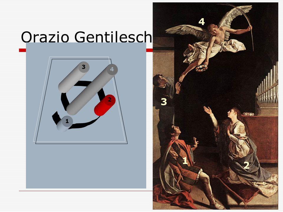 Stª Cecilia St. Valerianus St. Tiburtius Orazio Gentileschi 1 1 2 3 2 3 4 4