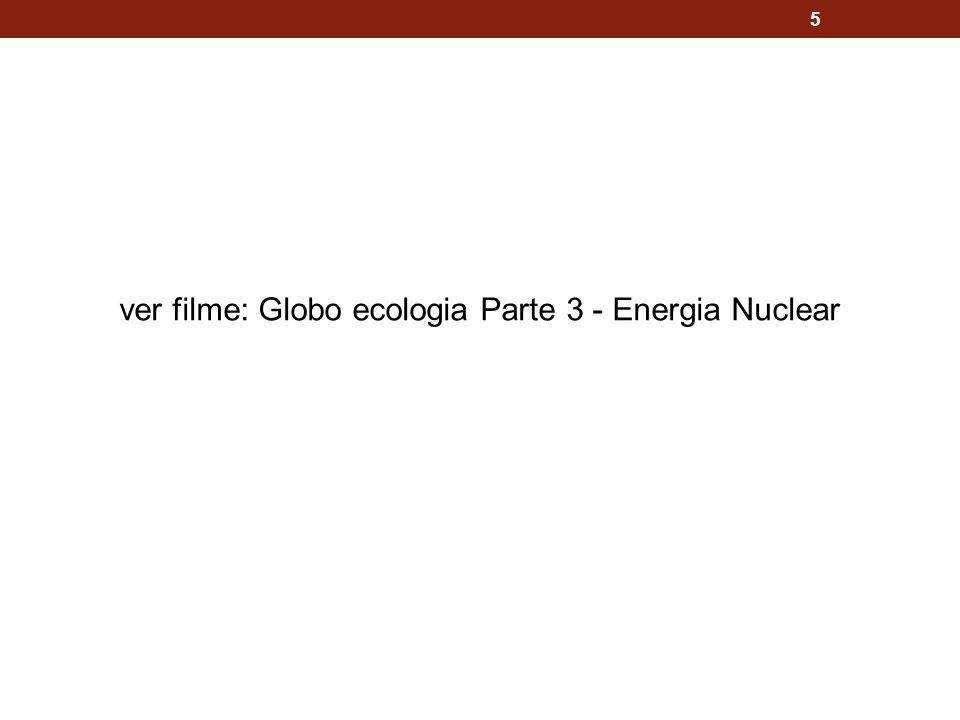 5 ver filme: Globo ecologia Parte 3 - Energia Nuclear