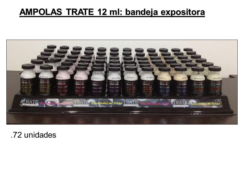 AMPOLAS TRATE 12 ml: bandeja expositora.72 unidades