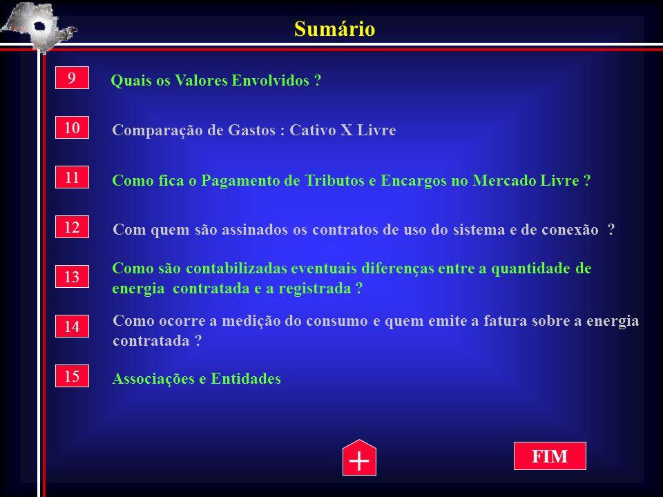 Qualidade no Uso da Energia Os consumidores livres estarão sujeitos ao pagamento de todos os tributos e encargos devidos pelos demais consumidores.