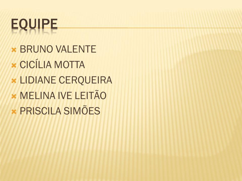 BRUNO VALENTE CICÍLIA MOTTA LIDIANE CERQUEIRA MELINA IVE LEITÃO PRISCILA SIMÕES