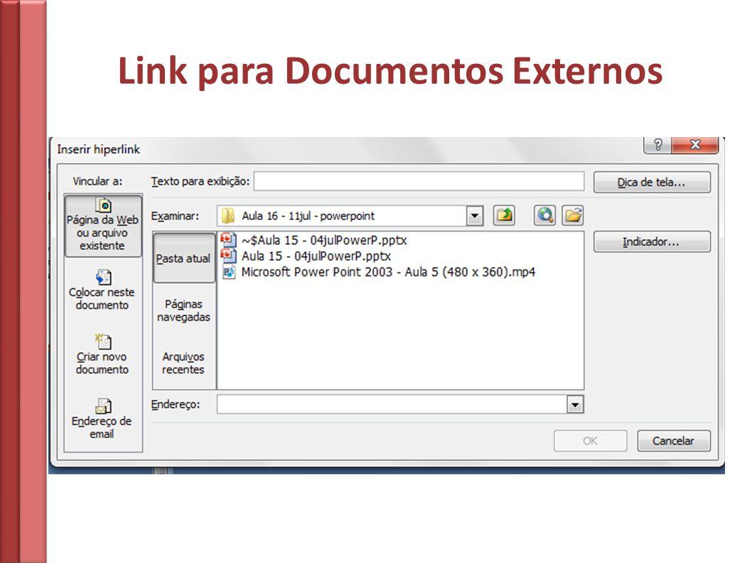 Link para Documentos Externos
