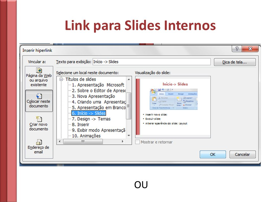 Link para Slides Internos OU