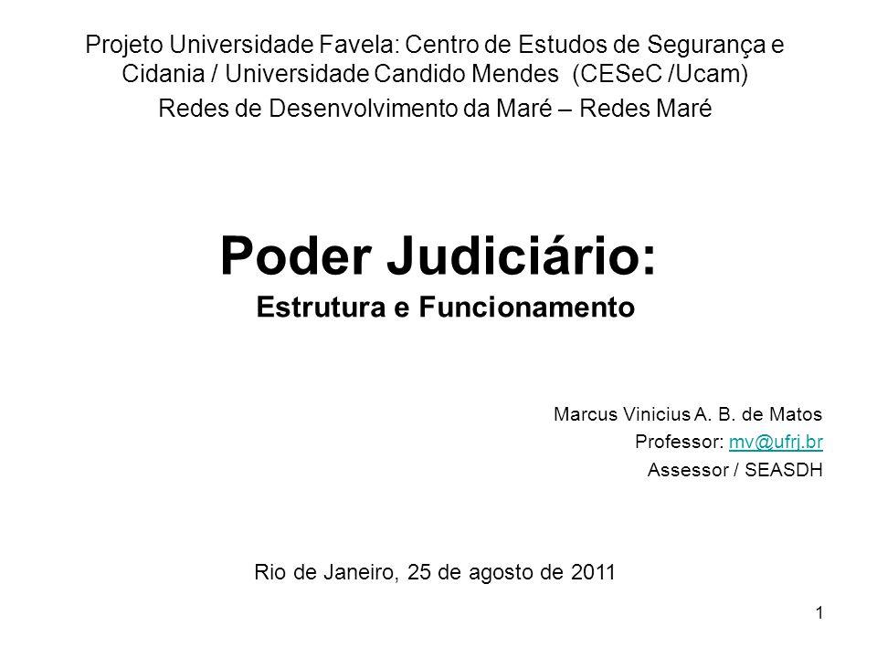 1 Poder Judiciário: Projeto Universidade Favela: Centro de Estudos de Segurança e Cidania / Universidade Candido Mendes (CESeC /Ucam) Redes de Desenvo