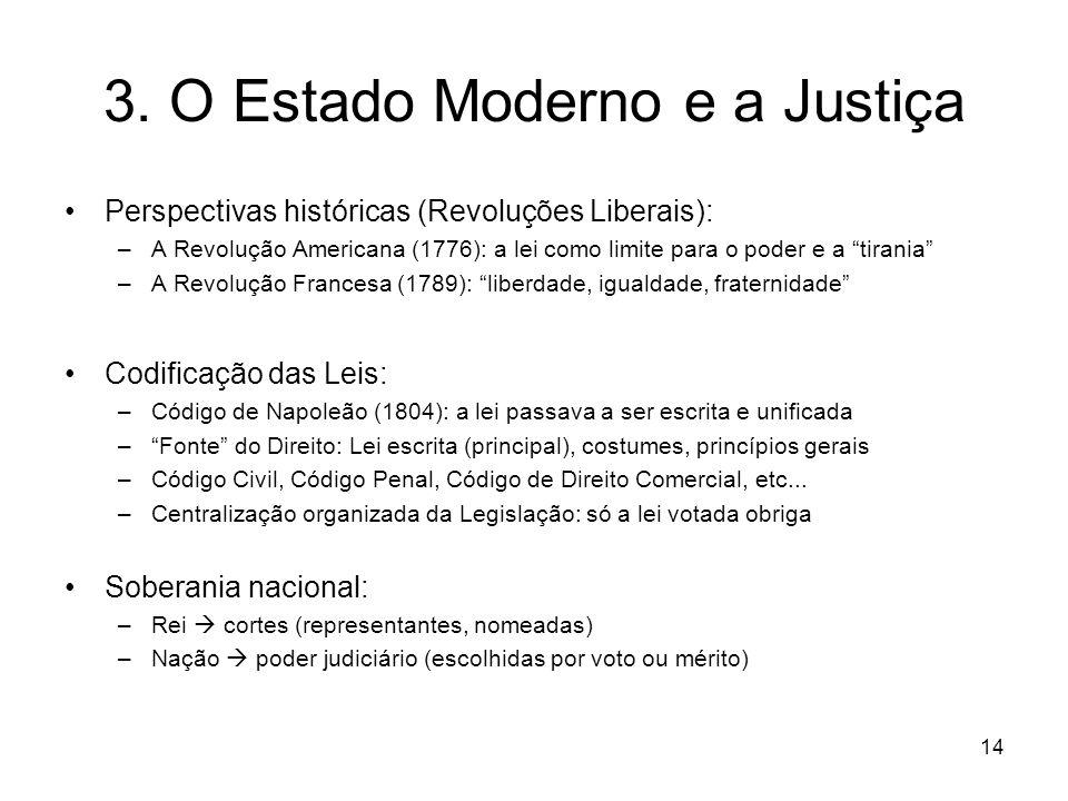 3. O Estado Moderno e a Justiça Perspectivas históricas (Revoluções Liberais): –A Revolução Americana (1776): a lei como limite para o poder e a tiran