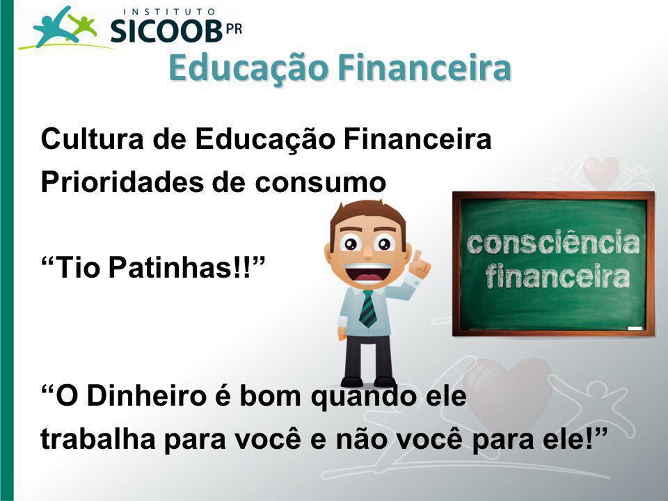 Cultura de Educação Financeira Prioridades de consumo Tio Patinhas!! O Dinheiro é bom quando ele trabalha para você e não você para ele!