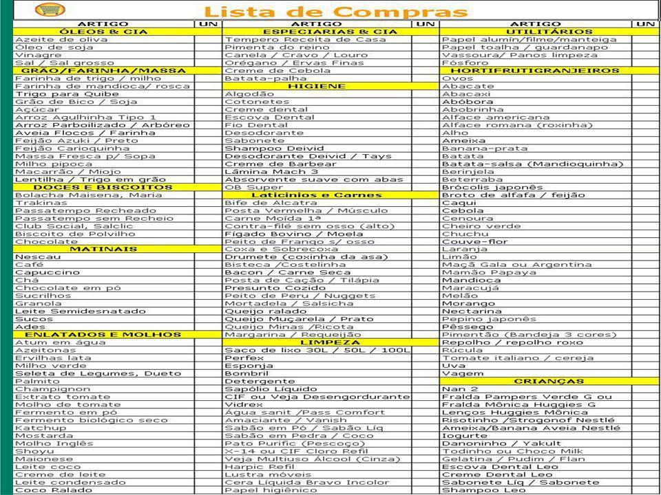 Organização Onde está sua carteira de vacinação.Onde você guardou a nota fiscal do Celular.