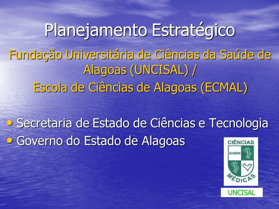 Planejamento Estratégico Fundação Universitária de Ciências da Saúde de Alagoas (UNCISAL) / Escola de Ciências de Alagoas (ECMAL) Secretaria de Estado