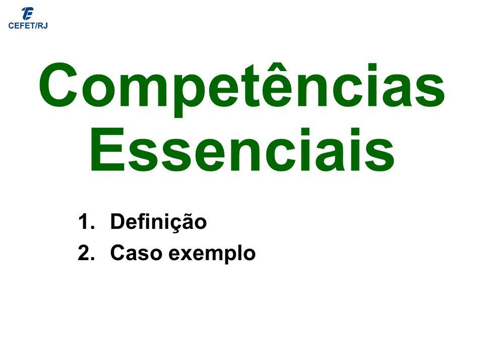 Competências Essenciais 1.Definição 2.Caso exemplo