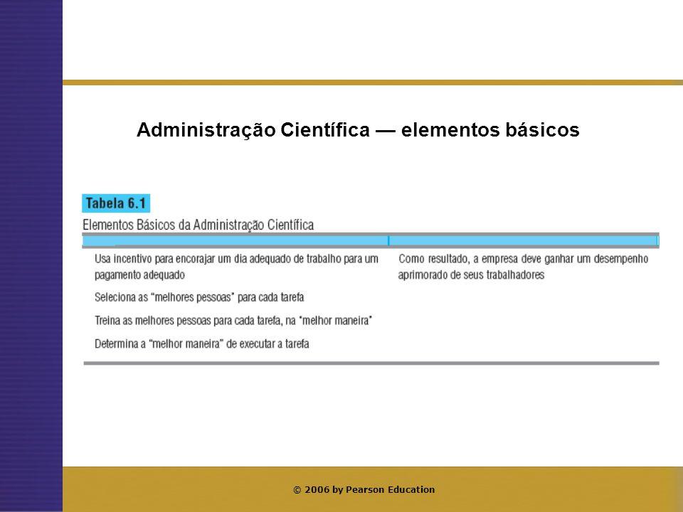 © 2006 by Pearson Education Administração Científica elementos básicos