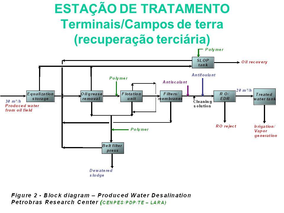 ESTAÇÃO DE TRATAMENTO Terminais/Campos de terra (recuperação terciária)