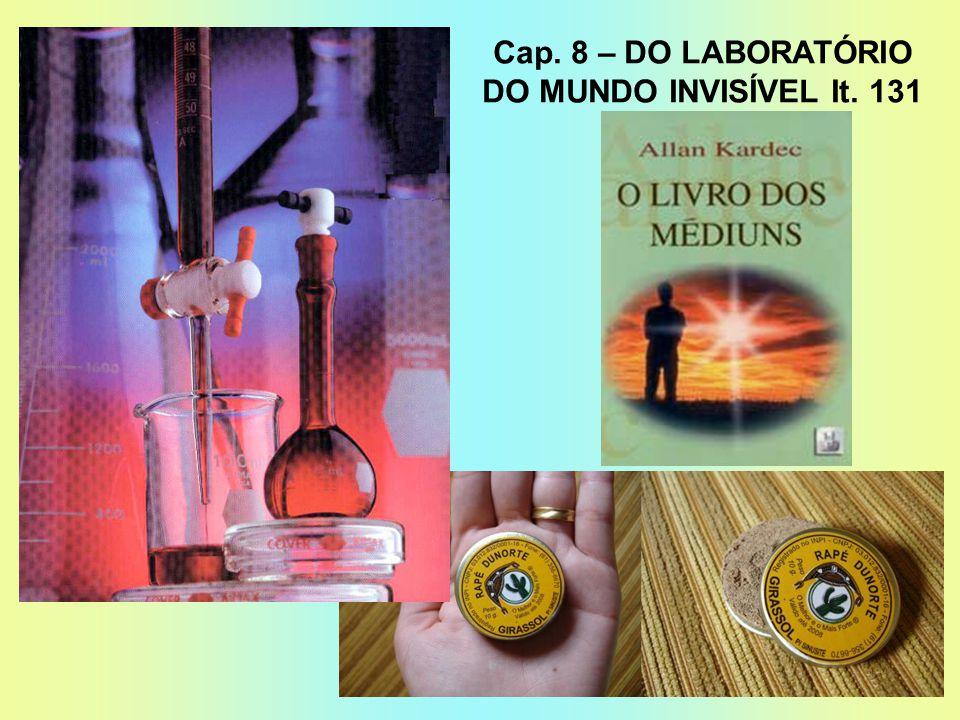 Cap. 8 – DO LABORATÓRIO DO MUNDO INVISÍVEL It. 131