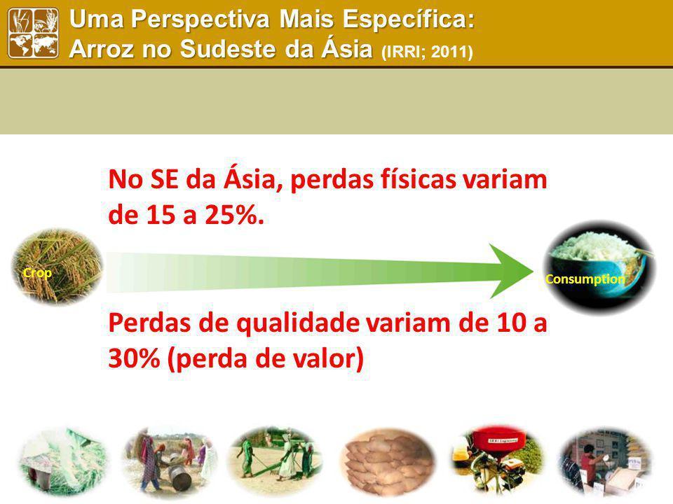 Uma Perspectiva Mais Específica: Arroz no Sudeste da Ásia Uma Perspectiva Mais Específica: Arroz no Sudeste da Ásia (IRRI; 2011) Consumption Crop No S