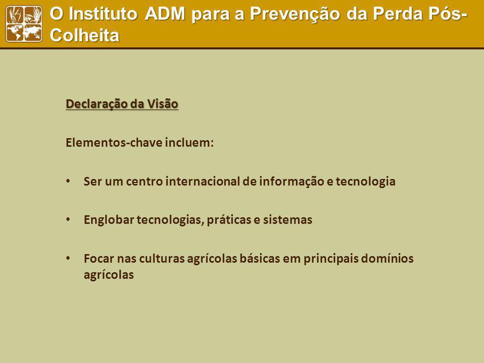 Declaração da Visão Elementos-chave incluem: Ser um centro internacional de informação e tecnologia Englobar tecnologias, práticas e sistemas Focar na