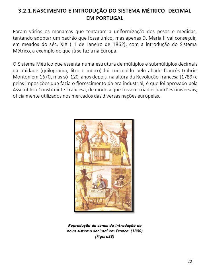 22 O Sistema Métrico que assenta numa estrutura de múltiplos e submúltiplos decimais da unidade (quilograma, litro e metro) foi concebido pelo abade f