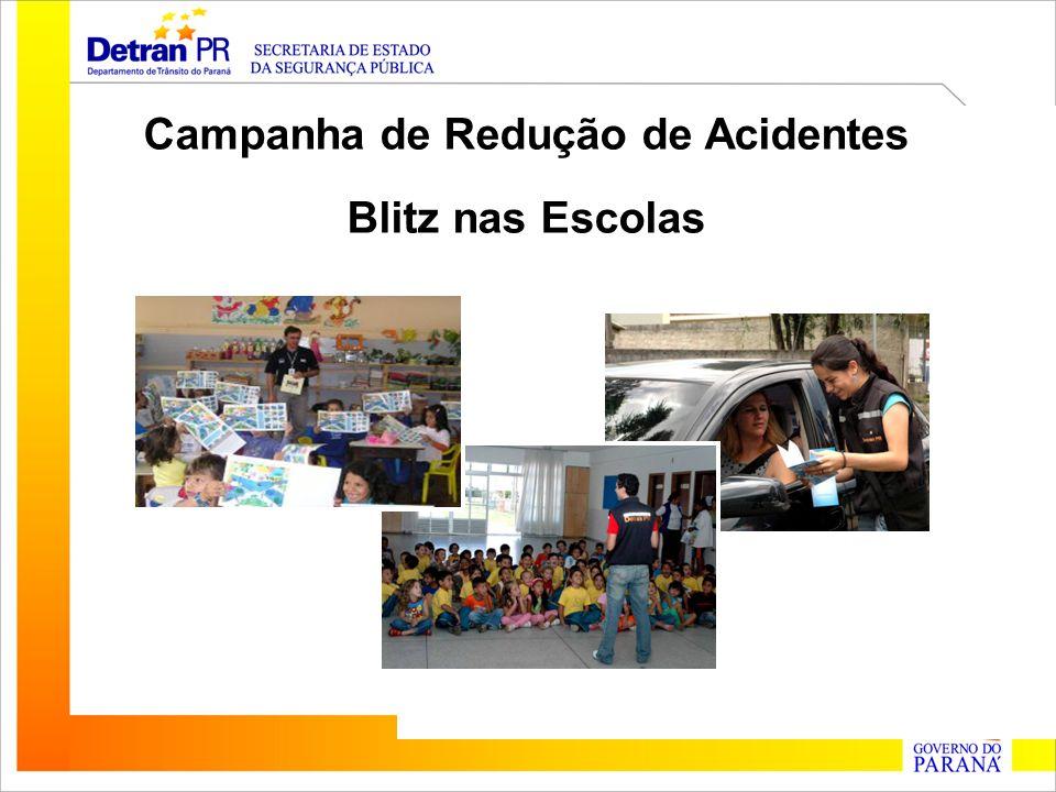 Campanha de Redução de Acidentes Blitz nas Escolas