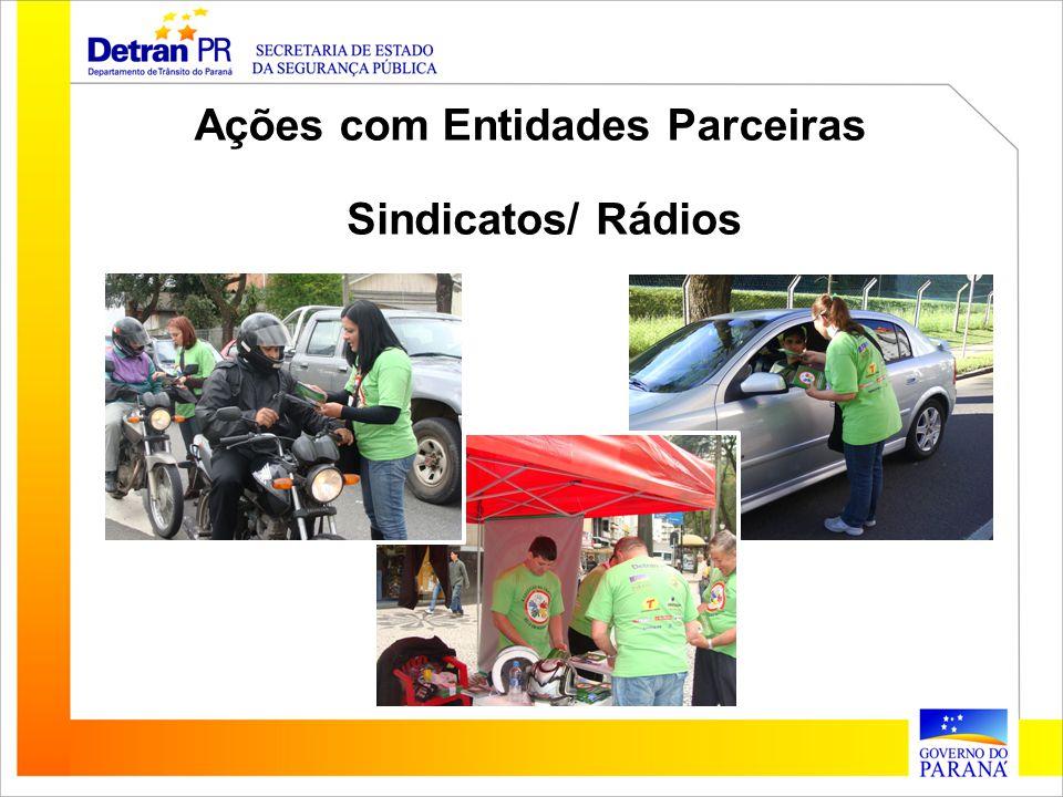 Ações com Entidades Parceiras Sindicatos/ Rádios