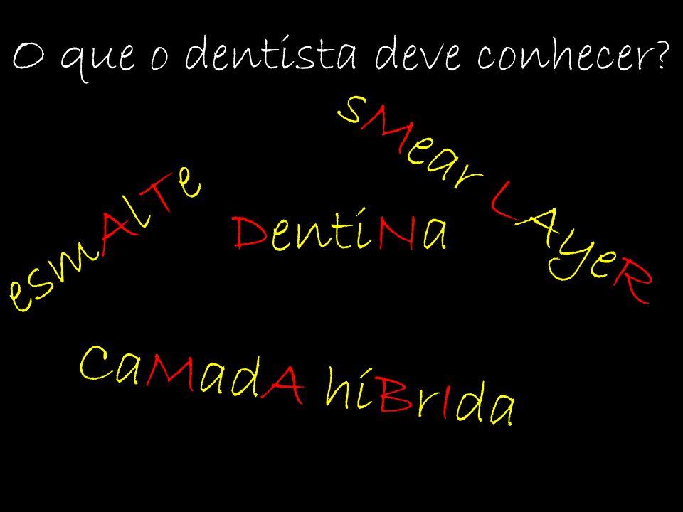 esmAlTe O que o dentista deve conhecer? DentiNa sMear LAyeR CaMadA híBrIda