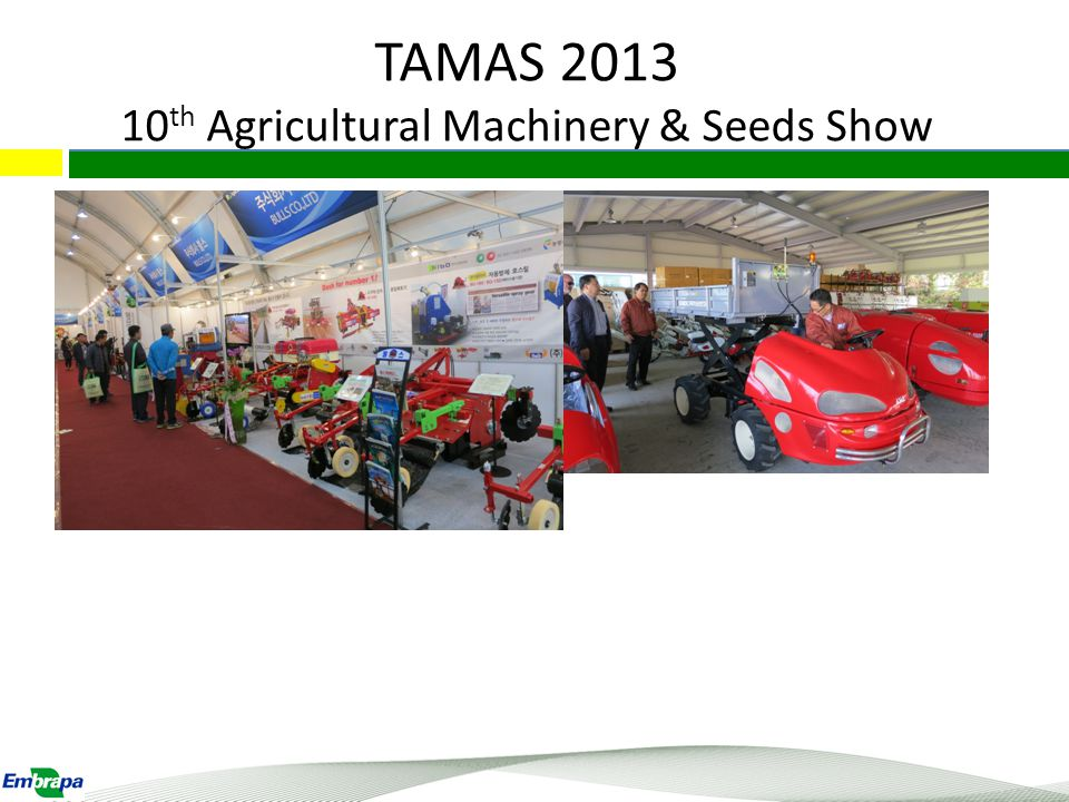 TAMAS 2013 10 th Agricultural Machinery & Seeds Show