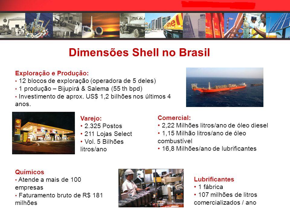 Comercial: 2,22 Milhões litros/ano de óleo diesel 1,15 Milhão litros/ano de óleo combustível 16,8 Milhões/ano de lubrificantes Varejo: 2.325 Postos 211 Lojas Select Vol.