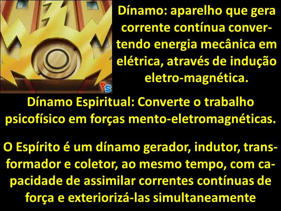 Dínamo: aparelho que gera corrente contínua conver- tendo energia mecânica em elétrica, através de indução eletro-magnética.