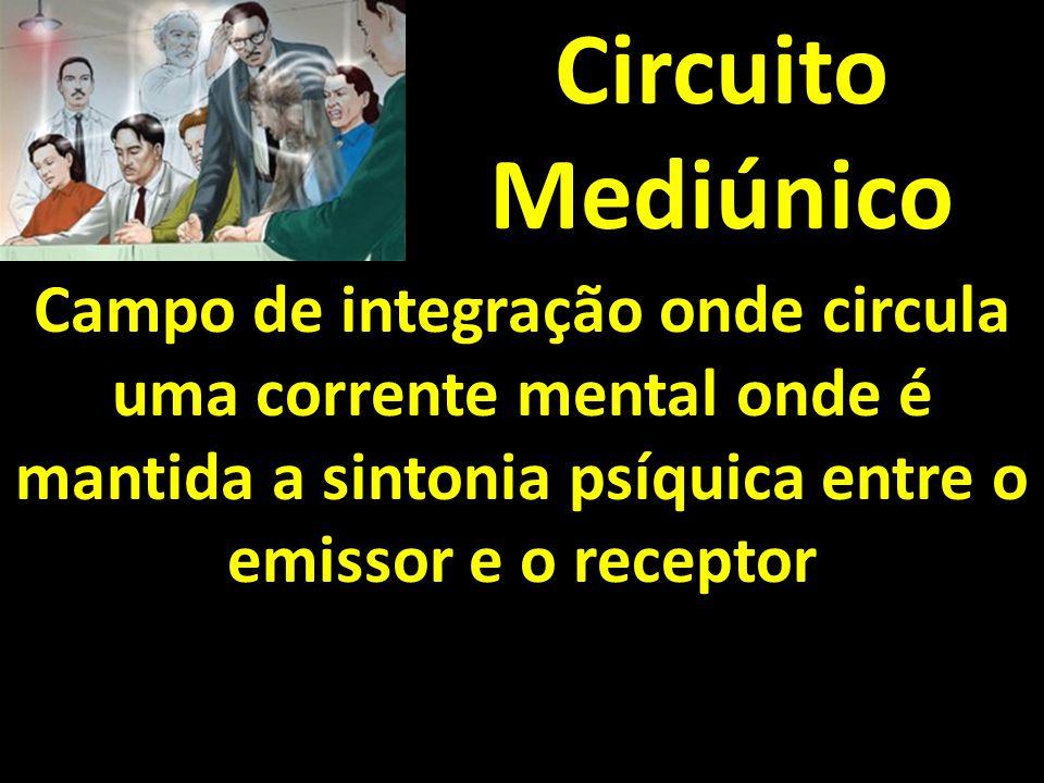 Circuito Mediúnico Campo de integração onde circula uma corrente mental onde é mantida a sintonia psíquica entre o emissor e o receptor