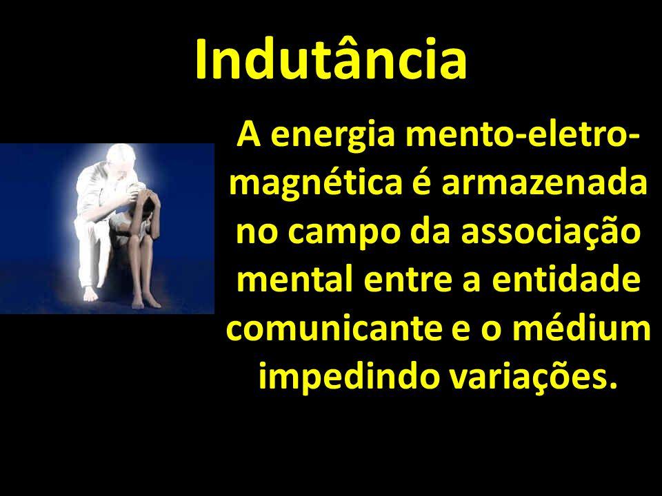 Indutância A energia mento-eletro- magnética é armazenada no campo da associação mental entre a entidade comunicante e o médium impedindo variações.