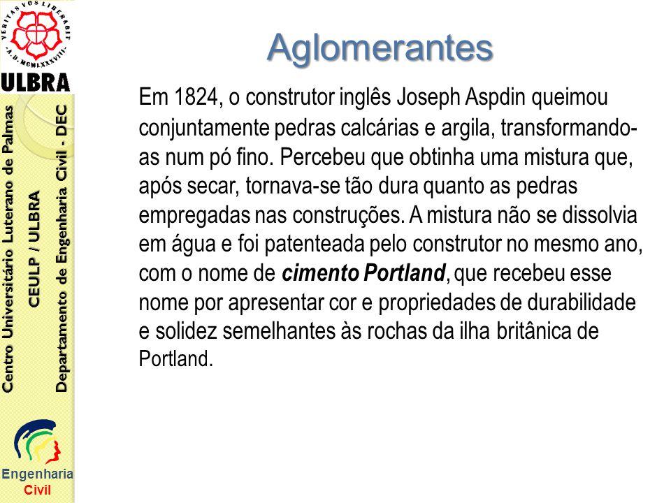 Em 1824, o construtor inglês Joseph Aspdin queimou conjuntamente pedras calcárias e argila, transformando- as num pó fino. Percebeu que obtinha uma mi