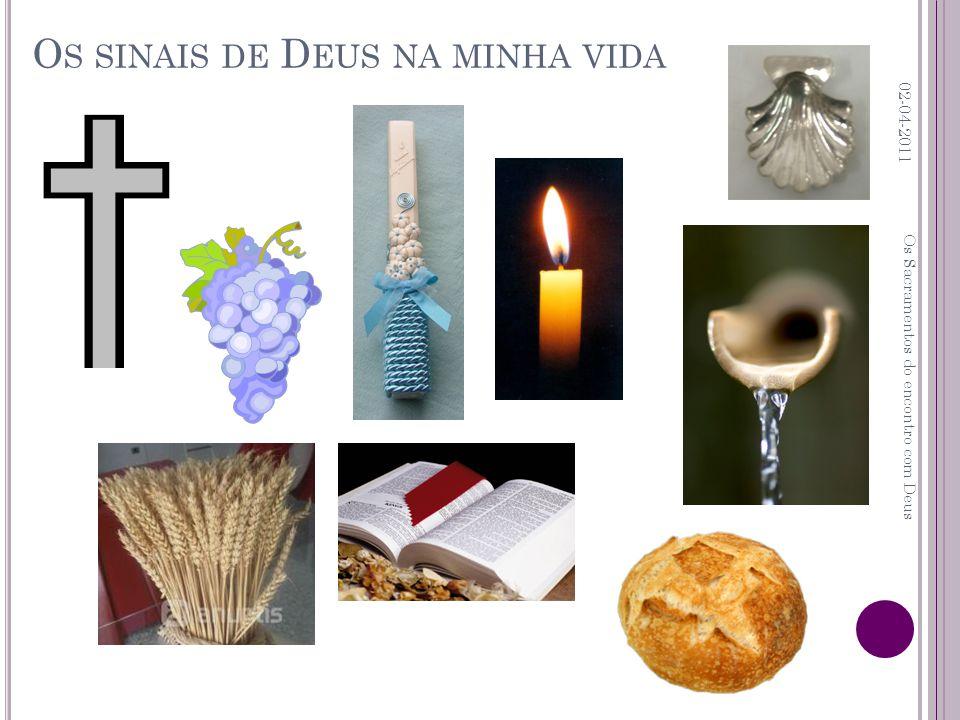 O S SINAIS DE D EUS NA MINHA VIDA 02-04-2011 Os Sacramentos do encontro com Deus