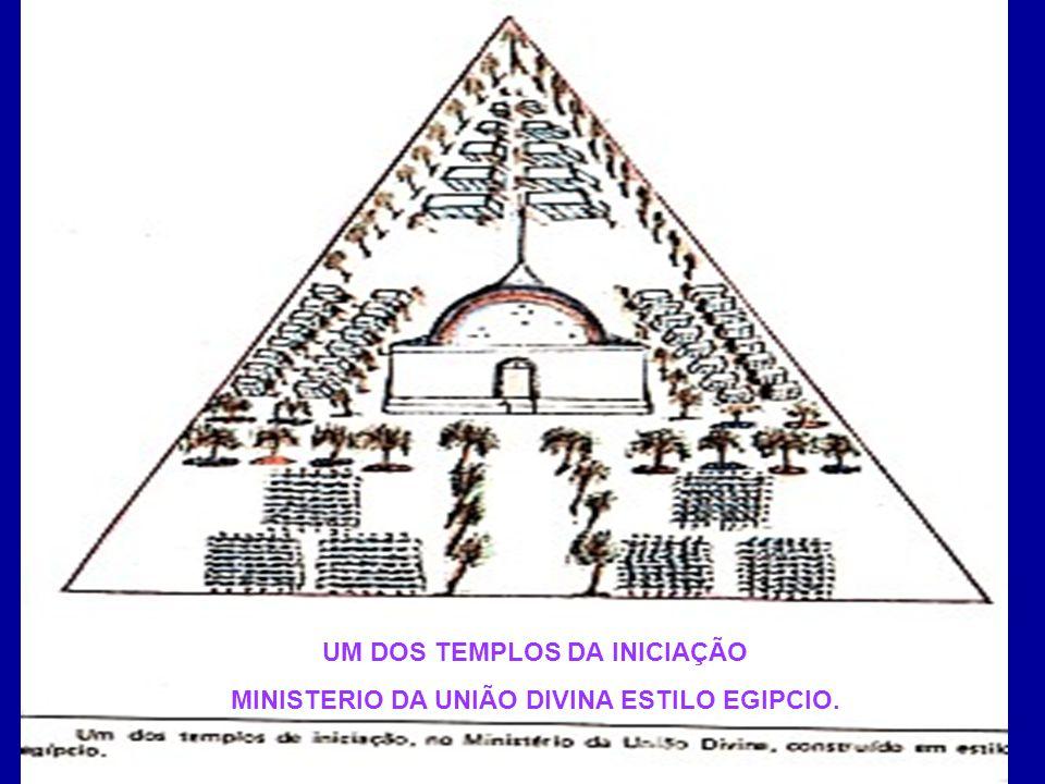 O DESENHO ACIMA É UM DOS TEMPLOS DE INICIAÇÃO DO MINISTÉRIO DA UNIÃO DIVINA, CONSTRUÍDO EM ESTILO EGÍPCIO.