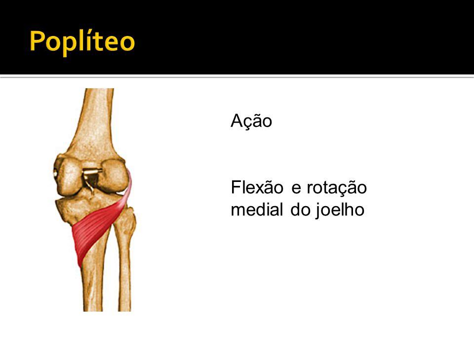 Ação Flexão e rotação medial do joelho