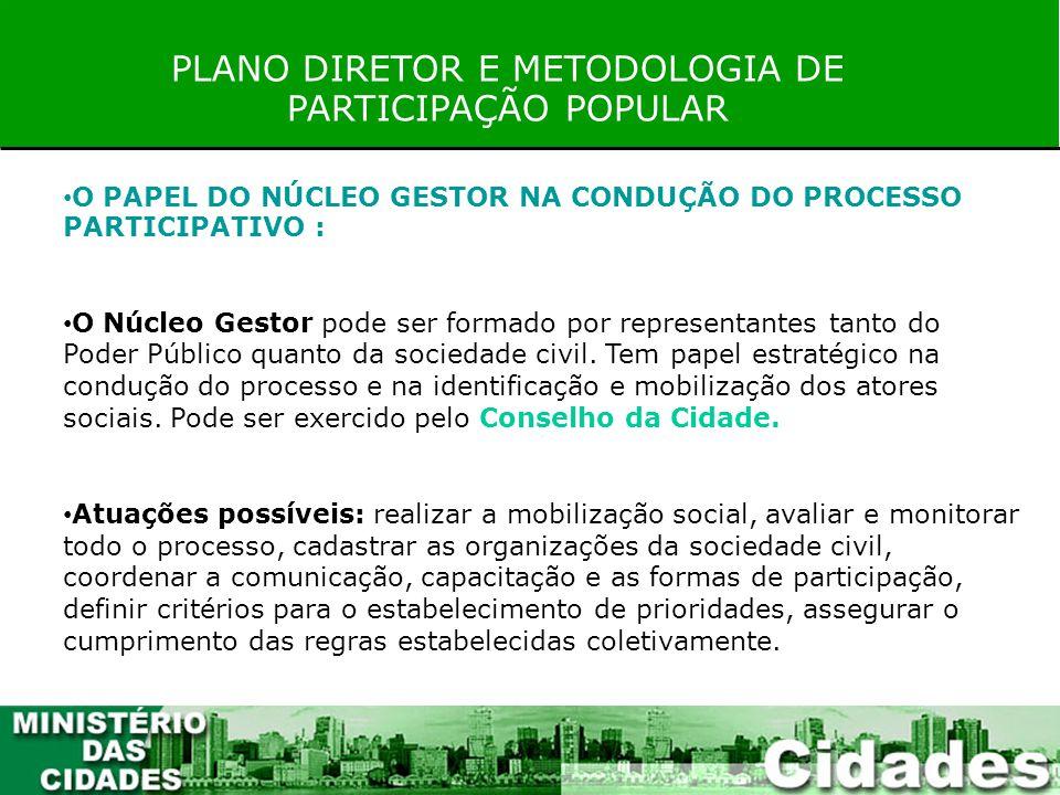 PLANO DIRETOR E METODOLOGIA DE PARTICIPAÇÃO POPULAR RESOLUÇÃO Nº 25, DE 18 DE MARÇO DE 2005 Art.