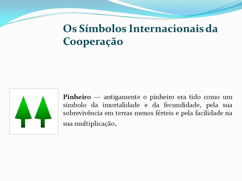 Os Símbolos Internacionais da Cooperação Pinheiro antigamente o pinheiro era tido como um símbolo da imortalidade e da fecundidade, pela sua sobrevivê