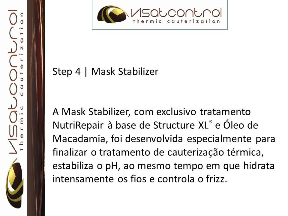 Step 4 | Mask Stabilizer A Mask Stabilizer, com exclusivo tratamento NutriRepair à base de Structure XL ® e Óleo de Macadamia, foi desenvolvida especi