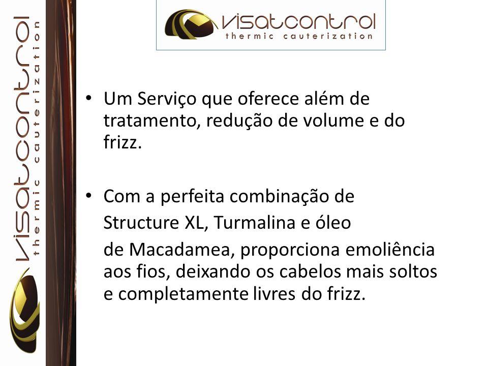 Um Serviço que oferece além de tratamento, redução de volume e do frizz. Com a perfeita combinação de Structure XL, Turmalina e óleo de Macadamea, pro