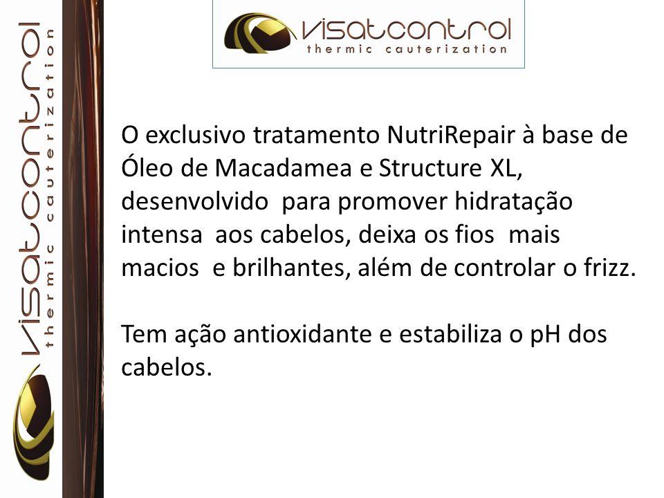O exclusivo tratamento NutriRepair à base de Óleo de Macadamea e Structure XL, desenvolvido para promover hidratação intensa aos cabelos, deixa os fio